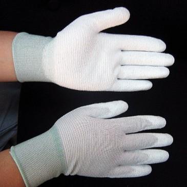 ESD hansker med PU i håndflaten og fingertuppene
