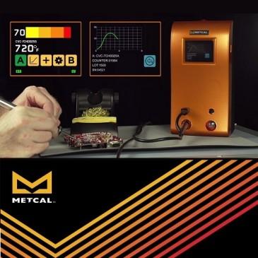 Metcal CV-5210 loddestasjonen kan logge resultatene