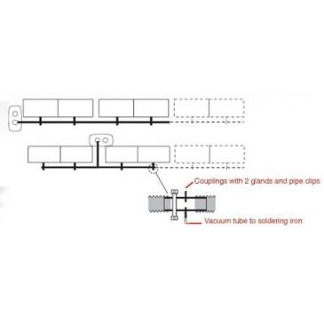 Forslag til layout ved bruk av spissavsug