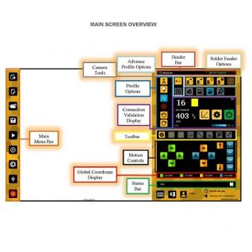 Menyen i programvare for Metcal lodderobot
