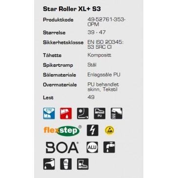 Sievi Star Roller XL+ S3 ESD vernestøvel, informasjon