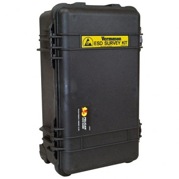 ESD survey kit'et leveres i en solid koffert.