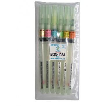 Sett med 6 forskjellige flusspenner